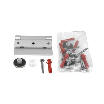 Cabrillant Aluminium Hinges - Glass Door to Wall (Pack of Two)
