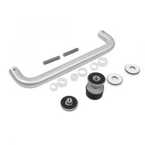 Anodised Aluminium Single 'D' Pull Handle Kit @ 225mm Centres