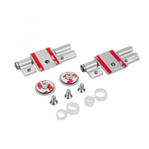 Un-Sprung Hinge Kit - Glass (Pack of Two)