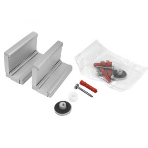 Aluminium Angle Brackets - Glass to Wall (Pack of Two)